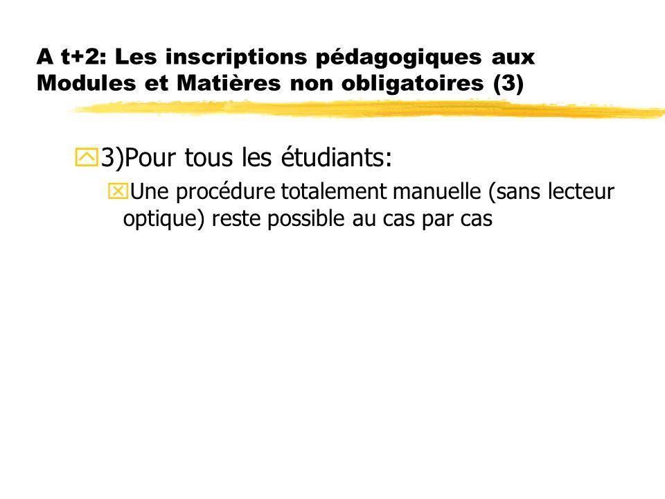 3)Pour tous les étudiants: