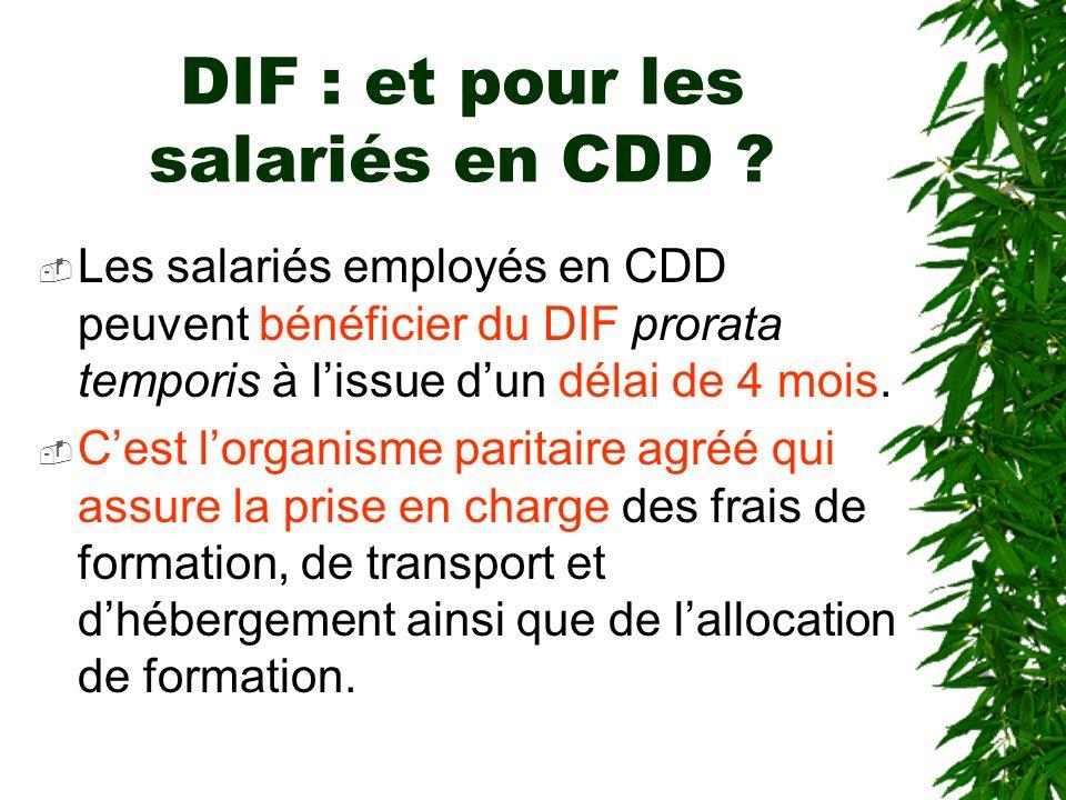 DIF : et pour les salariés en CDD