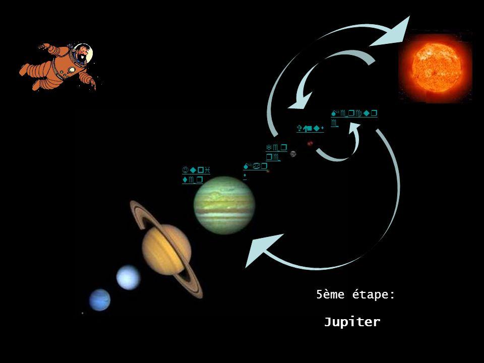Mercure Vénus Terre Mars Jupiter Jupiter 5ème étape: