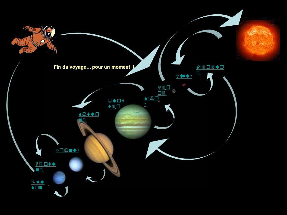 Mercure Vénus Terre Jupiter Uranus Saturne Neptune Pluton Mars Fin du voyage… pour un moment !