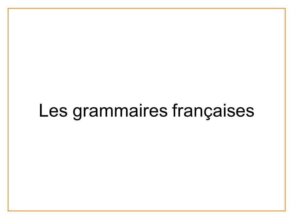 Les grammaires françaises