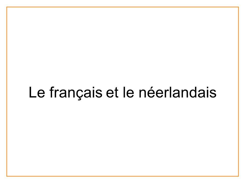 Le français et le néerlandais