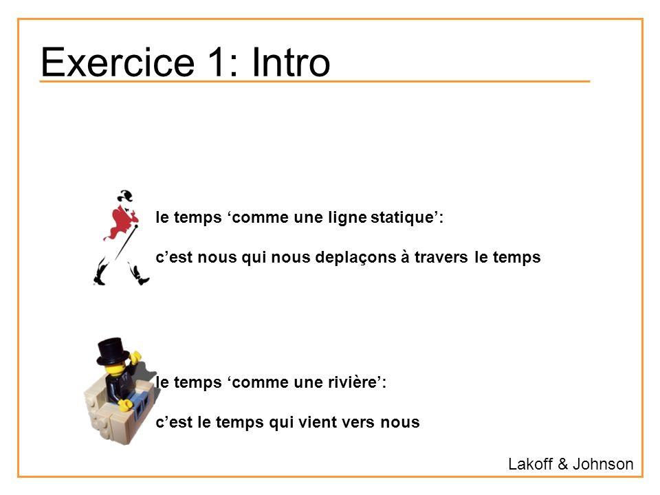 Exercice 1: Intro le temps 'comme une ligne statique':