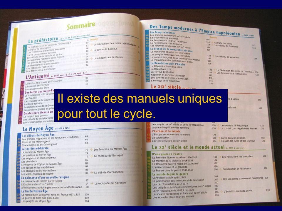 Il existe des manuels uniques