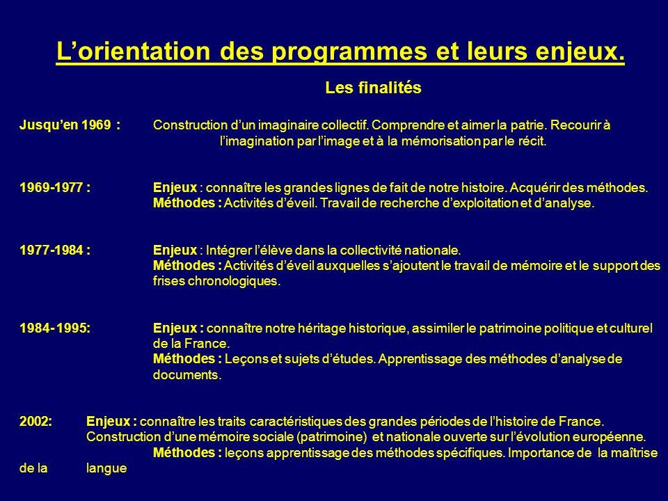 L'orientation des programmes et leurs enjeux.