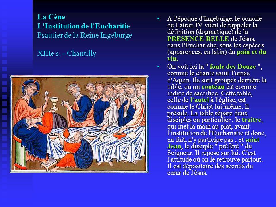 A l époque d Ingeburge, le concile de Latran IV vient de rappeler la définition (dogmatique) de la PRESENCE RELLE de Jésus, dans l Eucharistie, sous les espèces (apparences, en latin) du pain et du vin.