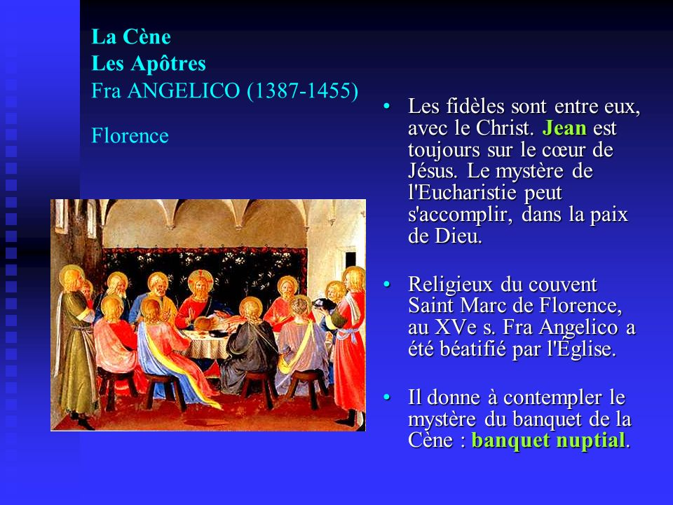 La Cène Les Apôtres Fra ANGELICO (1387-1455) Florence