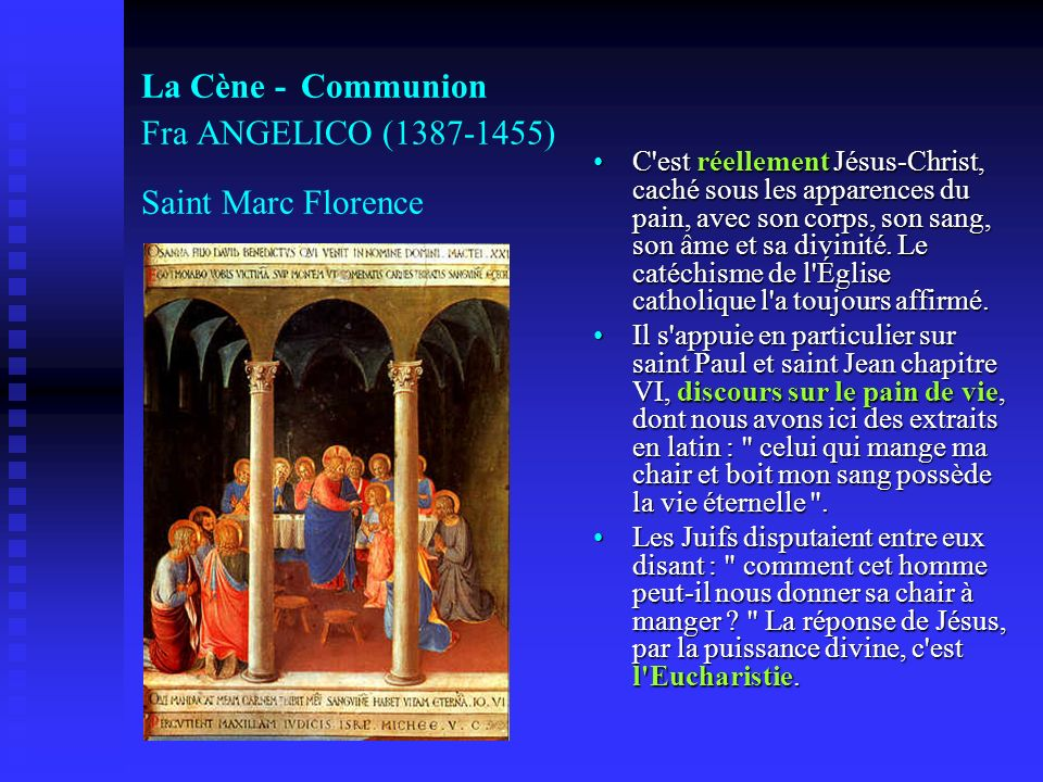 La Cène - Communion Fra ANGELICO (1387-1455) Saint Marc Florence
