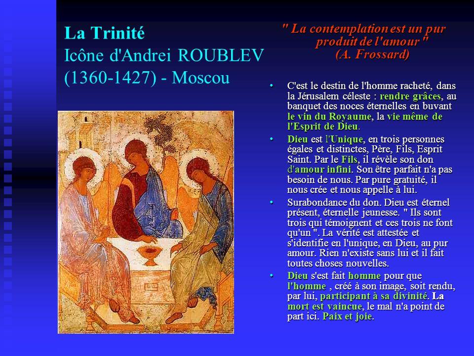 La Trinité Icône d Andrei ROUBLEV (1360-1427) - Moscou