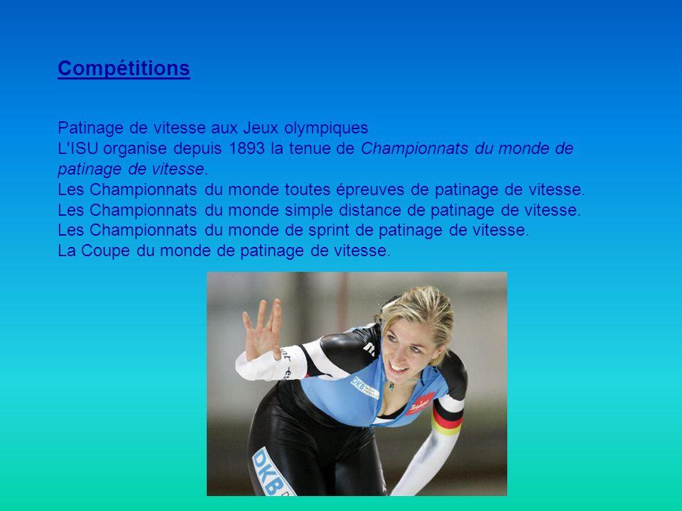 Compétitions Patinage de vitesse aux Jeux olympiques