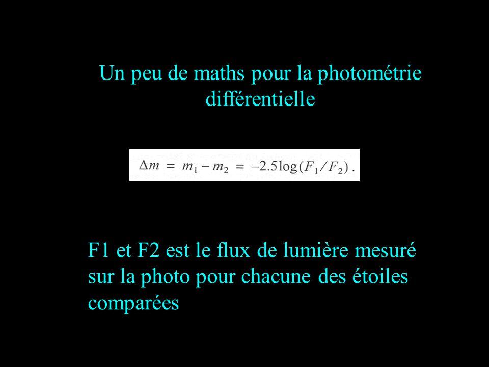 Un peu de maths pour la photométrie différentielle