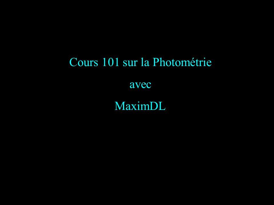 Cours 101 sur la Photométrie