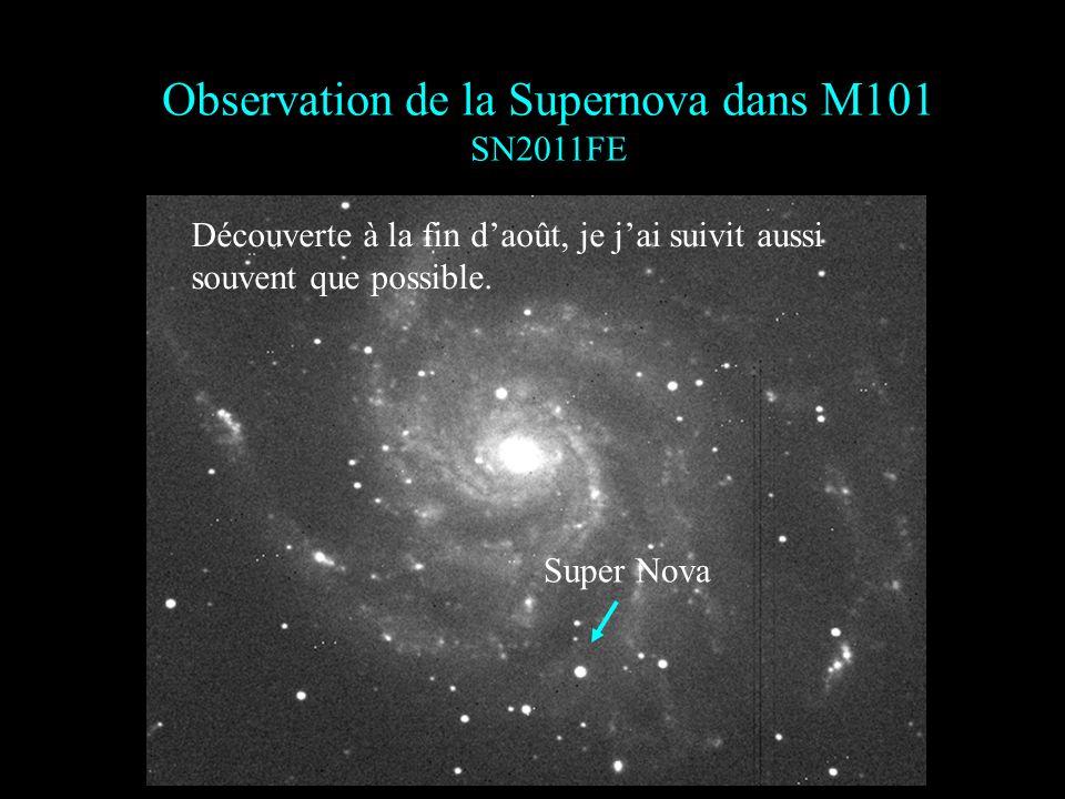 Observation de la Supernova dans M101 SN2011FE