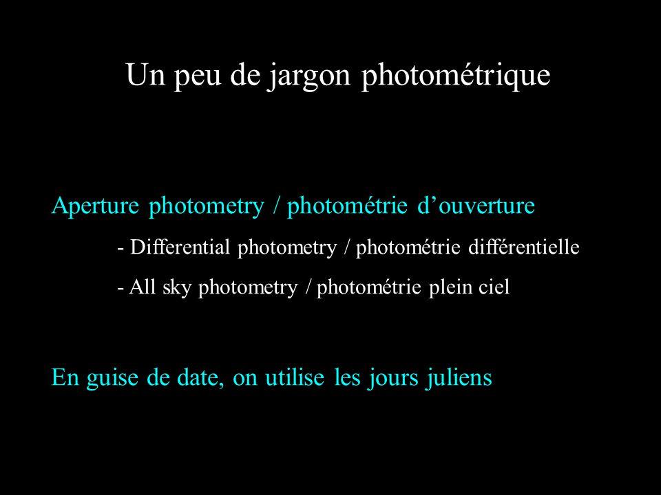 Un peu de jargon photométrique