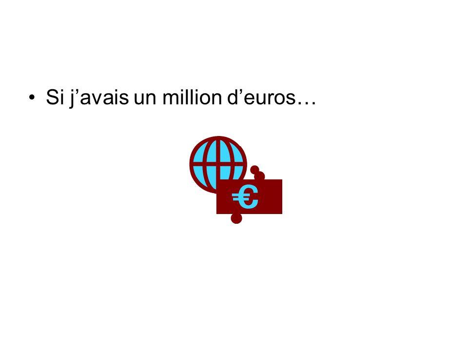 Si j'avais un million d'euros…