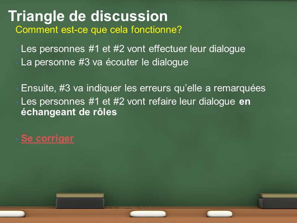 Triangle de discussion