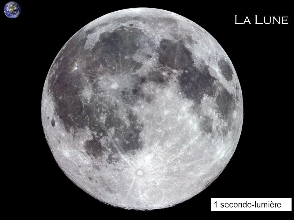 La Lune La lune est situee a 380 000 km 1 seconde-lumière