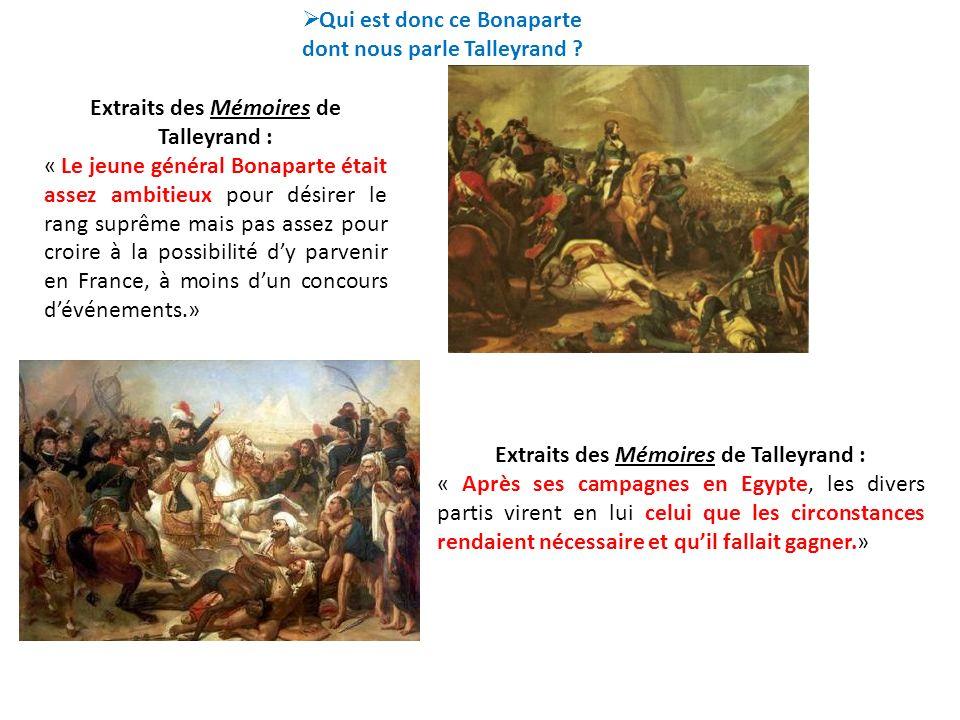 Qui est donc ce Bonaparte dont nous parle Talleyrand