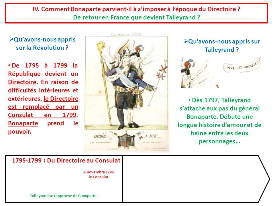 De retour en France que devient Talleyrand