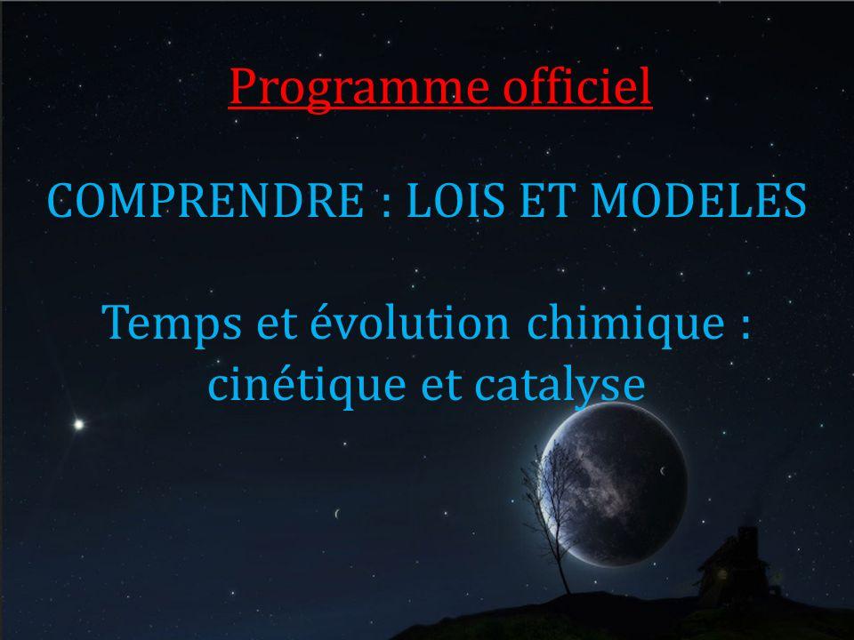Programme officiel COMPRENDRE : LOIS ET MODELES