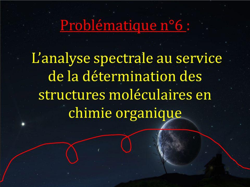 Problématique n°6 : L'analyse spectrale au service de la détermination des structures moléculaires en chimie organique.