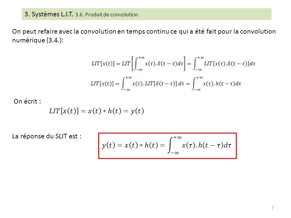 3. Systèmes L.I.T. 3.6. Produit de convolution