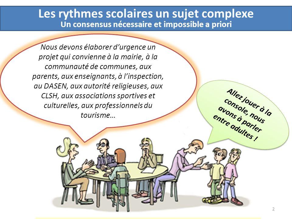 Les rythmes scolaires un sujet complexe