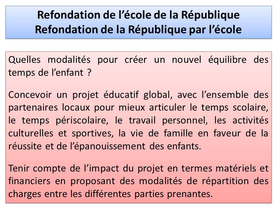 Refondation de l'école de la République