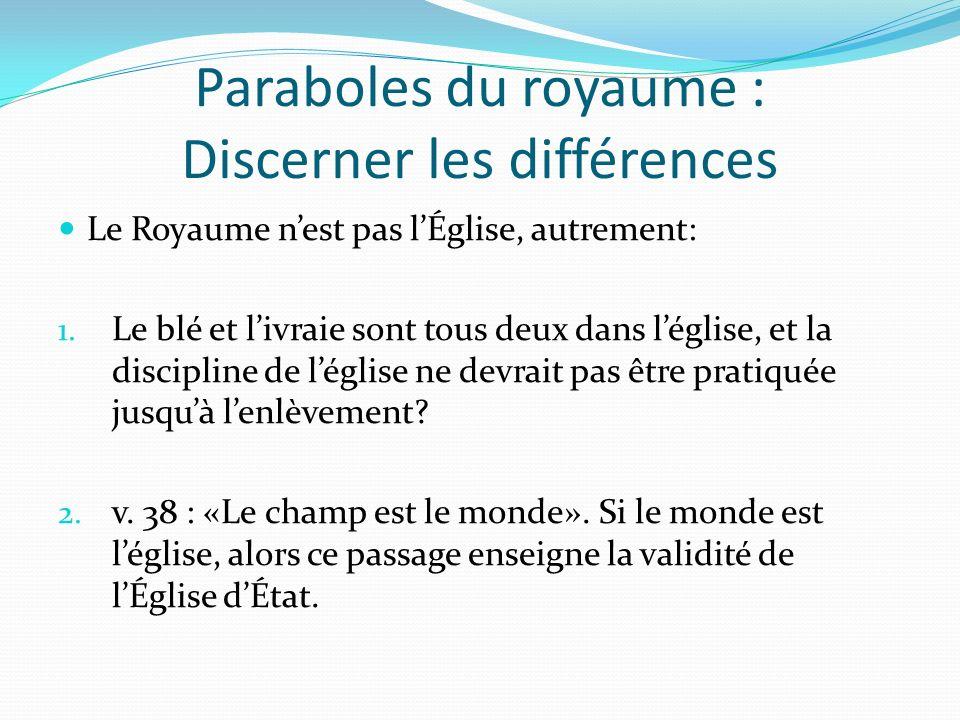 Paraboles du royaume : Discerner les différences