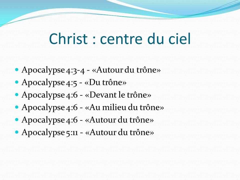 Christ : centre du ciel Apocalypse 4:3-4 - «Autour du trône»