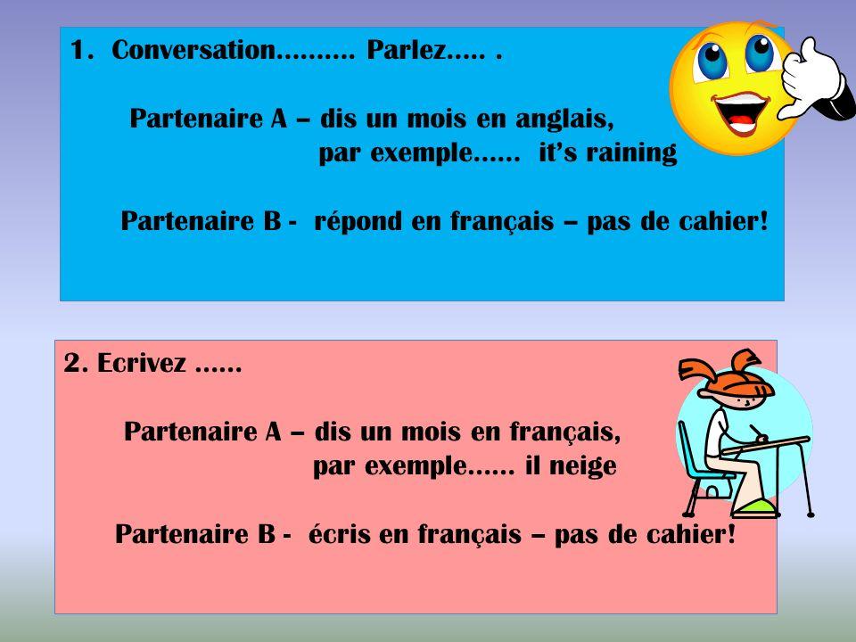Conversation………. Parlez….. .