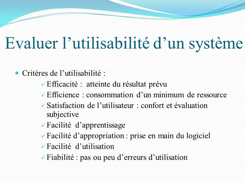 Evaluer l'utilisabilité d'un système