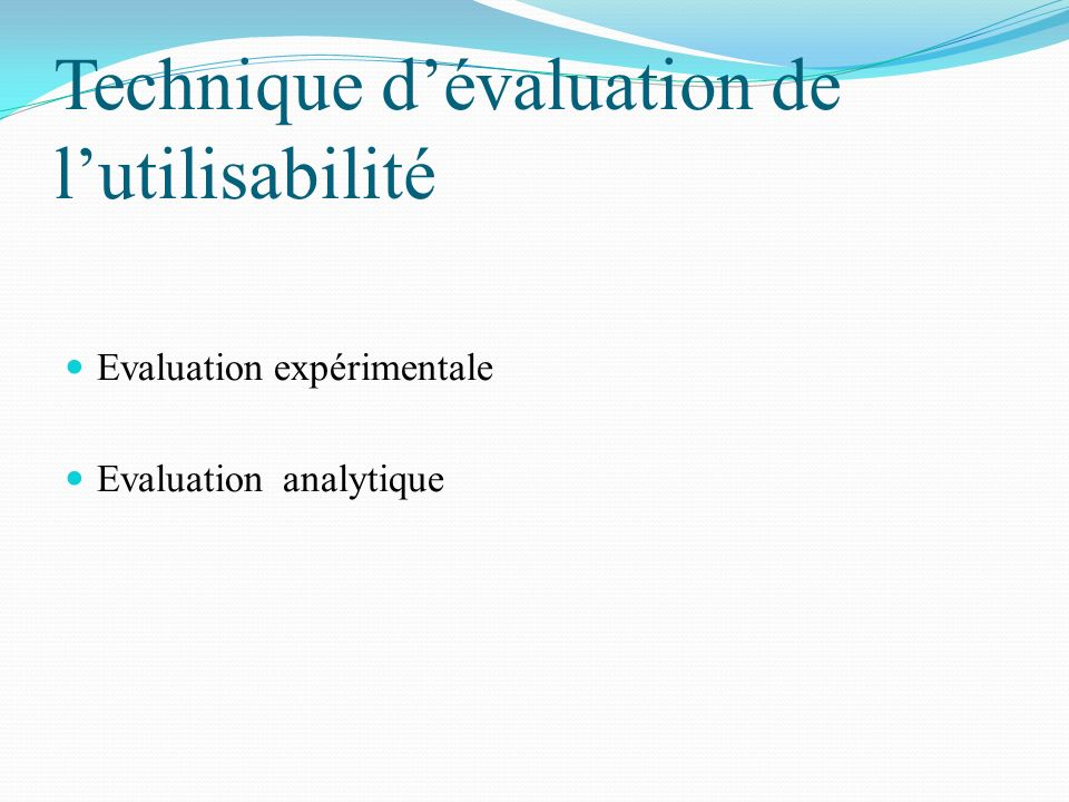 Technique d'évaluation de l'utilisabilité