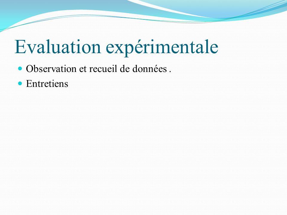 Evaluation expérimentale