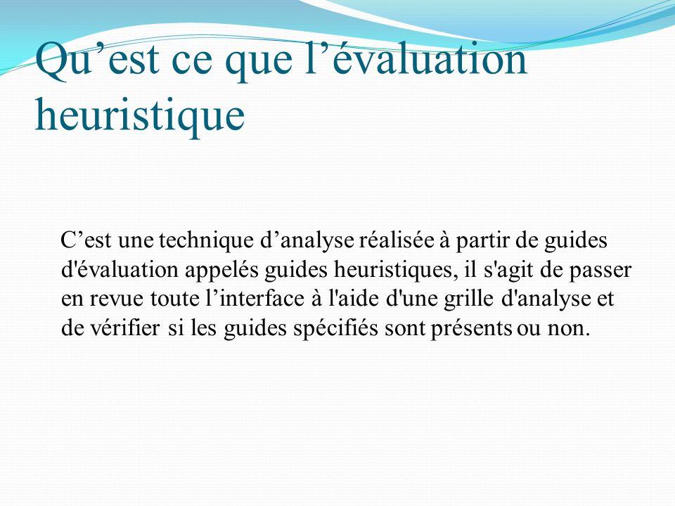 Qu'est ce que l'évaluation heuristique