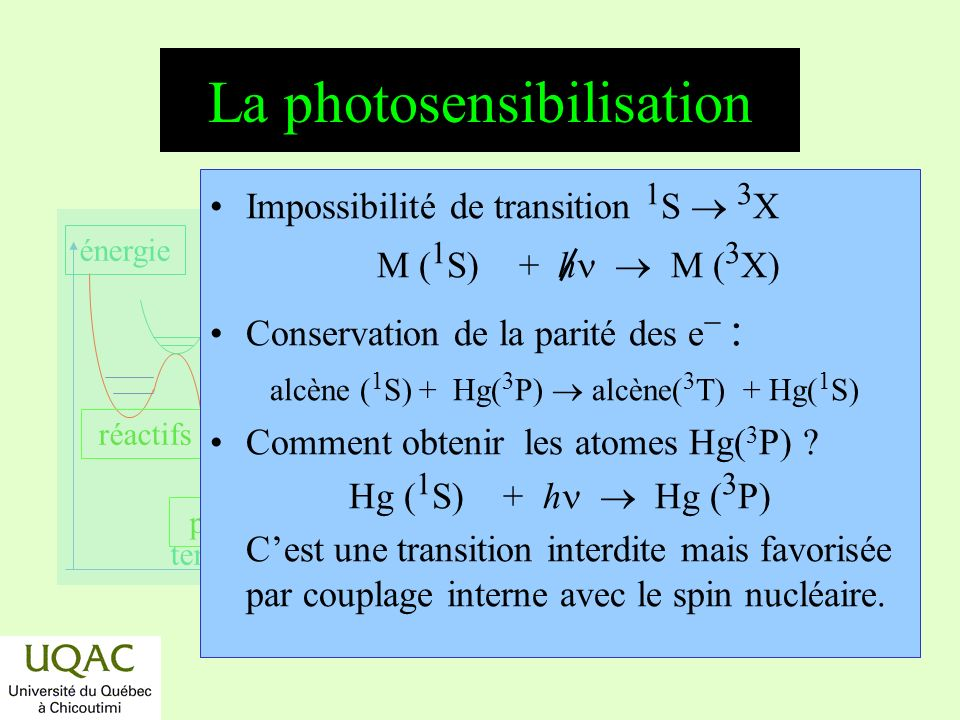 La photosensibilisation