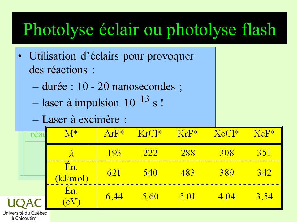 Photolyse éclair ou photolyse flash
