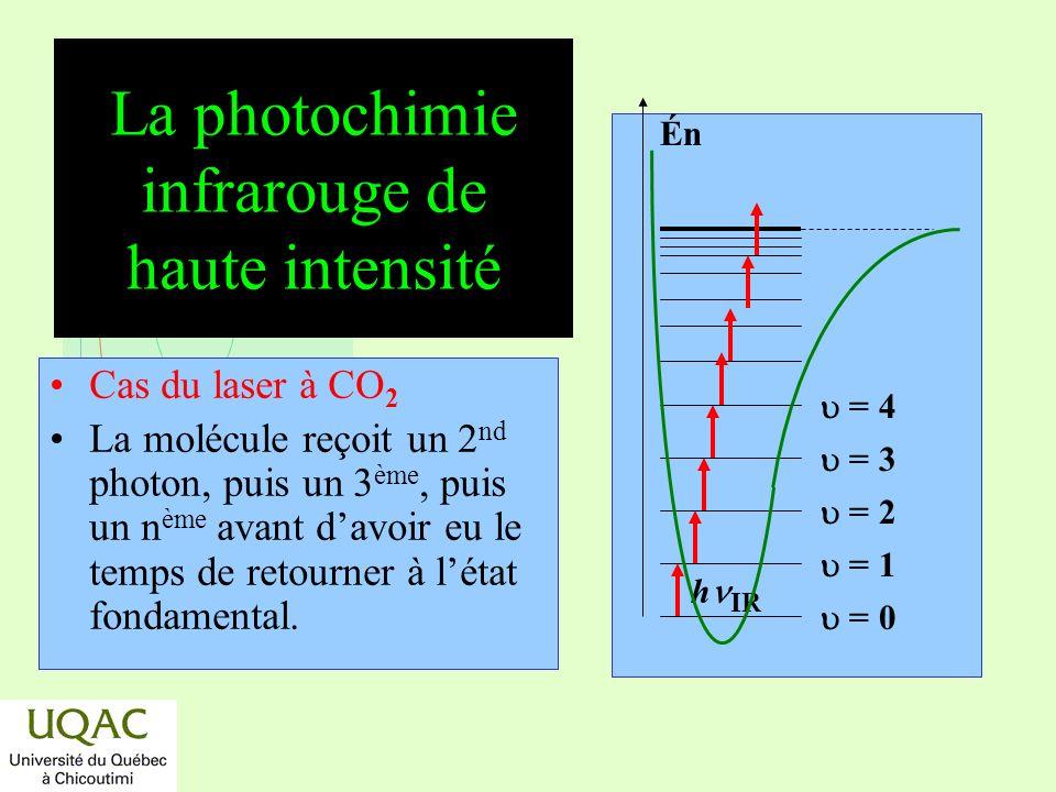La photochimie infrarouge de haute intensité