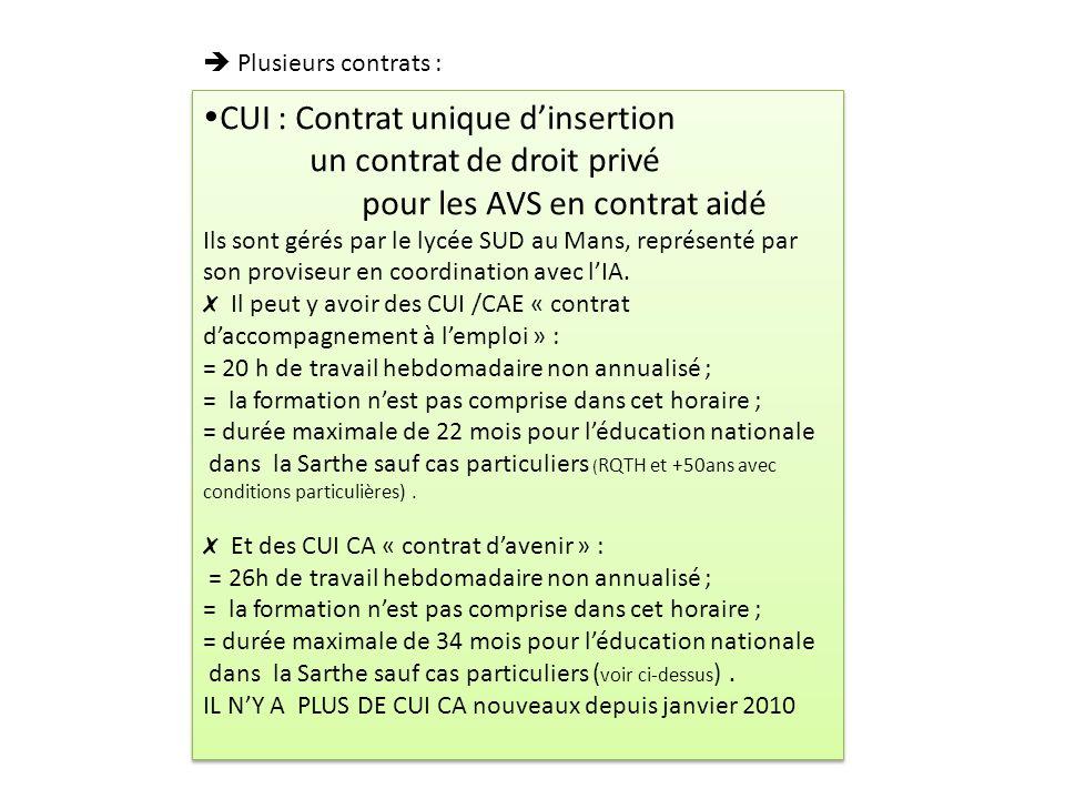 CUI : Contrat unique d'insertion un contrat de droit privé
