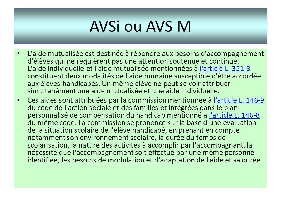 AVSi ou AVS M