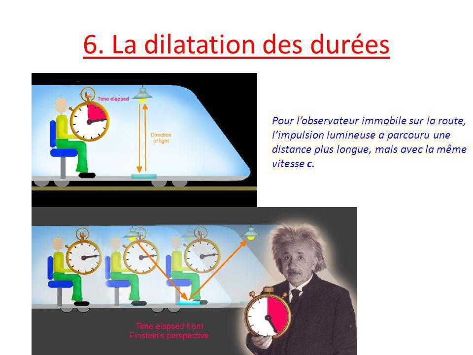 6. La dilatation des durées