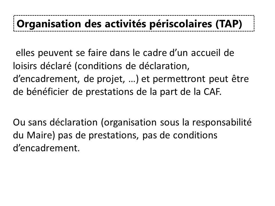 Organisation des activités périscolaires (TAP)