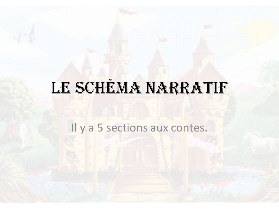 Il y a 5 sections aux contes.