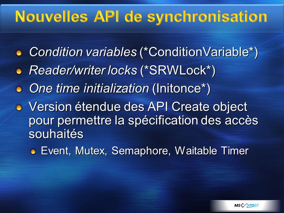 Nouvelles API de synchronisation