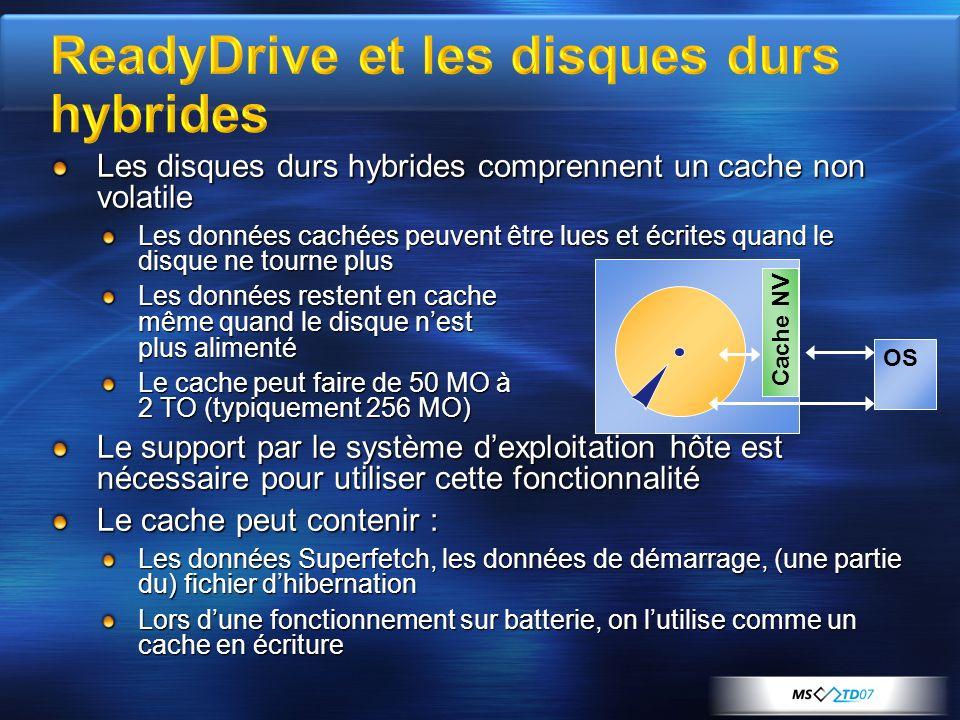 ReadyDrive et les disques durs hybrides