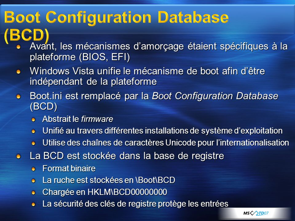 Boot Configuration Database (BCD)