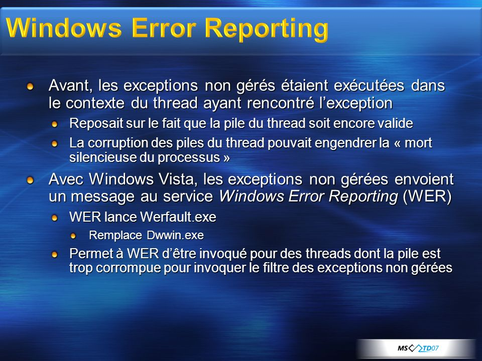 Windows Error Reporting