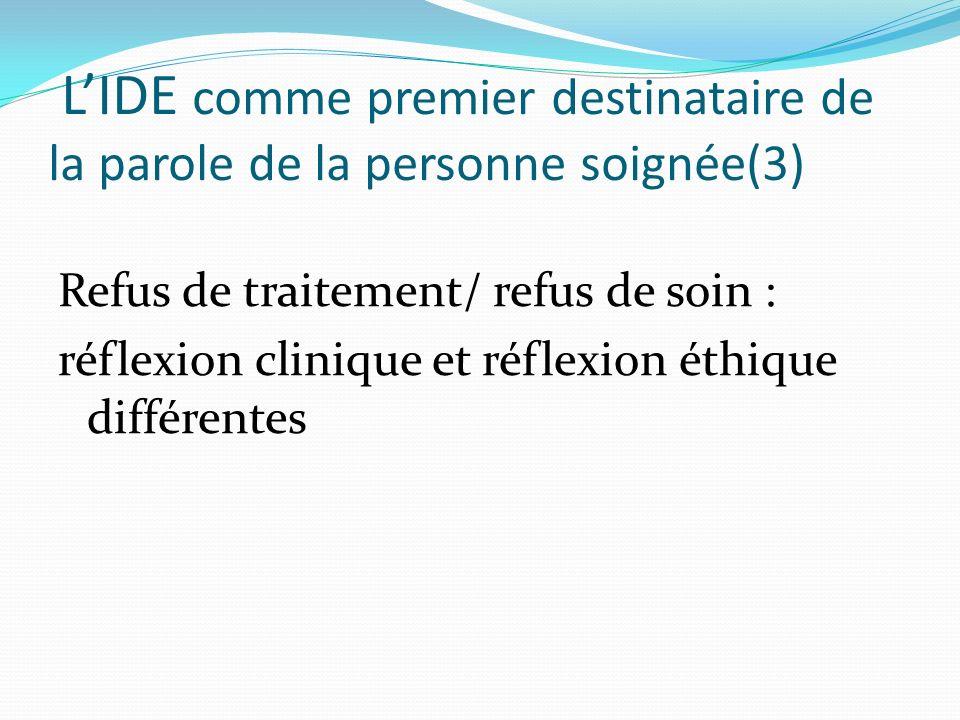 L'IDE comme premier destinataire de la parole de la personne soignée(3)