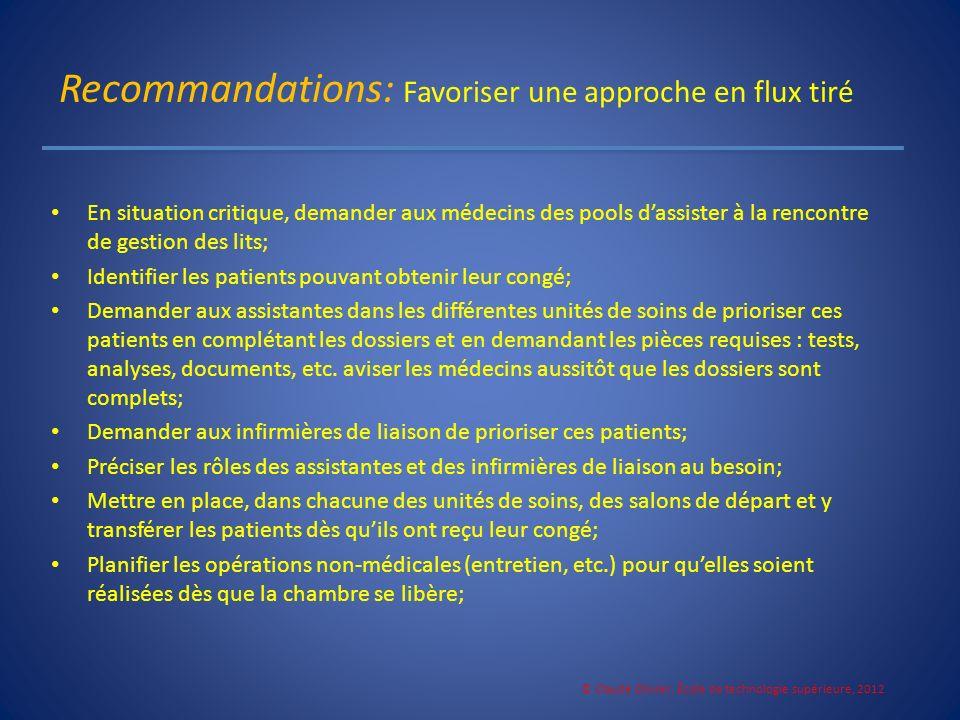 Recommandations: Favoriser une approche en flux tiré