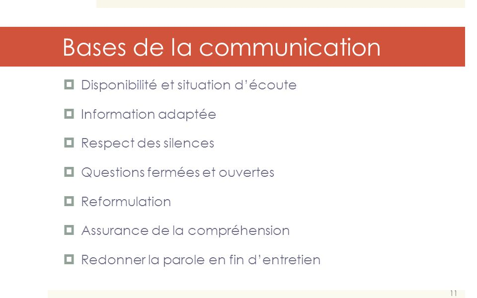 Bases de la communication